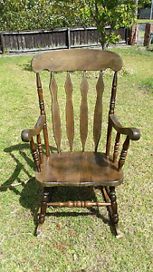 Eighties vintage timber rocking chair Belmont Geelong City Preview
