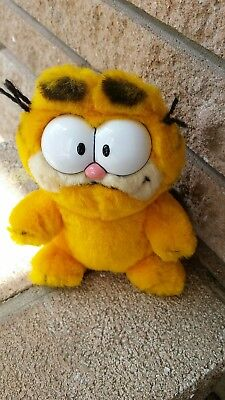"Vintage Garfield Plush 6"" Stuffed Animal 1978 R. Dankin cartoon cat character"