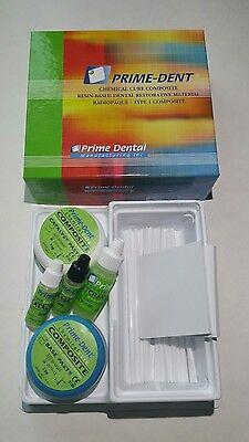 Prime Dent Dental Chemical Self Cure Composite Kit 15gm 15gm. Exp012021