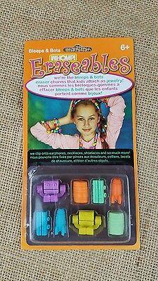 Eraseables charms clip onto earphones necklace shoelaces craft