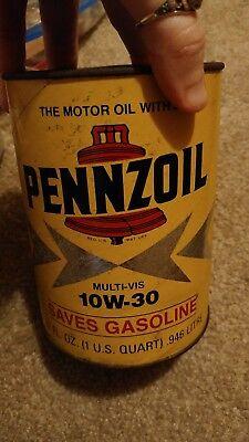 pennzoil can full quart Oil City PA 10w-30 multi-vis