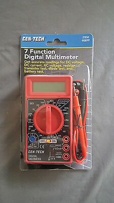 how to use a cen tech digital multimeter