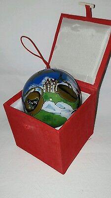 Li Bien Ornament Glas Kugel Ball ⌀ 7,5 cm Sternzeichen Zodiac LIBRA WAAGE SELTEN Glaskugel Ornament