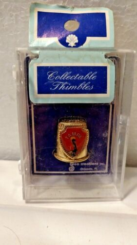Vintage Thimble of Pelican  Tampa Gold Collectible Never Been Opened