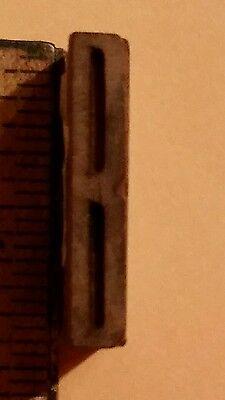 Vintage Letter B Wood Letterpress Type Printing Block 1 516 X 14 Wooden