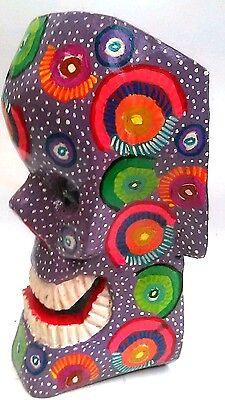 Origin Of The Halloween Mask (DAY OF THE DEAD HALLOWEEN SKULL MASK = HAND CARVED = GUATEMALAN FOLK)