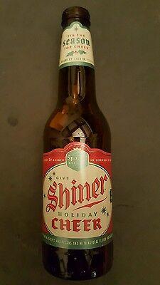 Shiner Cheer Beer glass empty 12oz bottle Spoetzl Brewery Texas TX