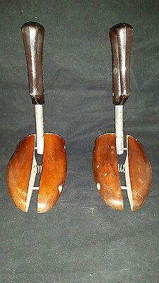 Wood Shoe Stretcher Regal Split Adjustable 3 Metal  Vtg