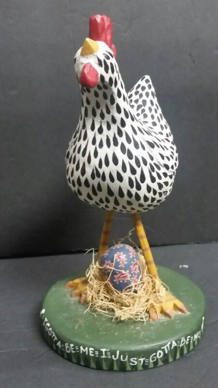 1997 House of Hatten Hen Decorated Easter Egg I Gotta Be Me I Just Gotta Be Me