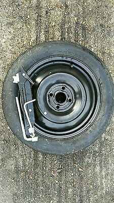 """TOYOTA YARIS 2013-2017 SPACE SAVER 15"""" SPARE WHEEL & TYRE, JACK AND SPANNER"""