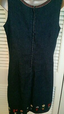 Dress JUMPER sleeveless BLUE JEAN size 8 ladies' EUC Christopher & Banks - Blue Jean Jumper