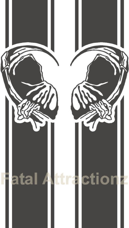 Truck Bed Band S27 Vinyl Decal Sticker side graphic body stripes grim reaper