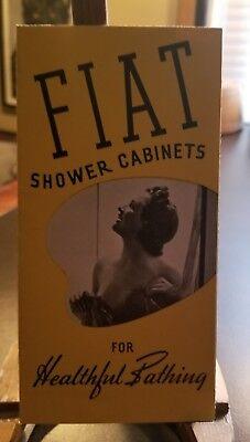 1939 WORLD'S FAIR BROCHURE - FIAT SHOWER CABINETS - Pinup Shower