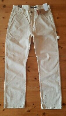 Men's BNWT VANS Cream Carpenter Relaxed Jeans - 30W & 30L - Mislabelled As 29W