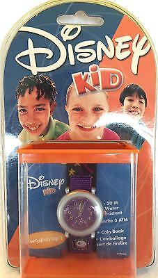 Vintage Disney Kids Watch Stars Purple Girls Boys Water Resistant NEW IN PACKAGE