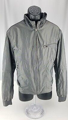 Milestone Coat Jacket Mens 52   L Gray Grey Metallic Sportswear Moses Germany