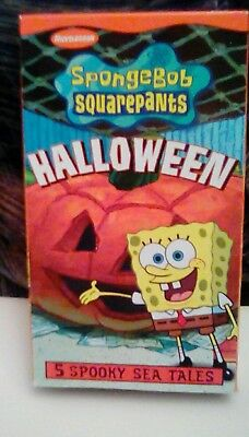 Nickelodeon SpongeBob Squarepants - Halloween (2002) VHS 5 spooky cartoons RARE](Nickelodeon Halloween)