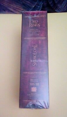 Lord of the Rings: The Two Towers Special Extended Edition Box Set VHS 2003 NEW
