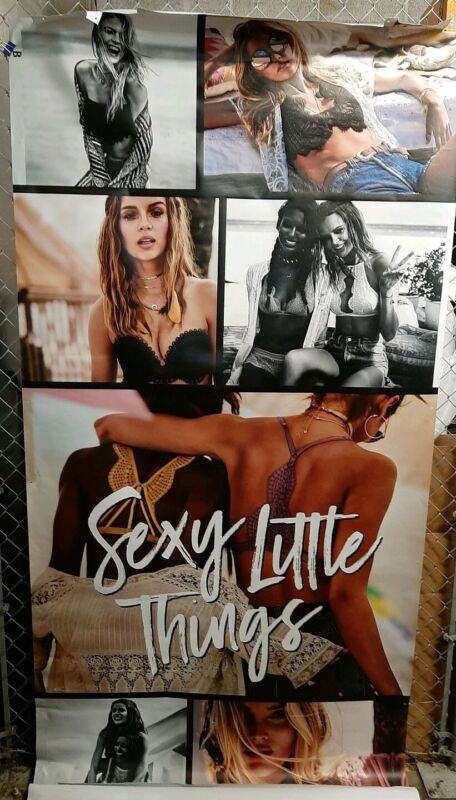 Victoria Secret Model, In Store Window Display VYNL POSTER ☆ LIFE SIZE ☆#F607