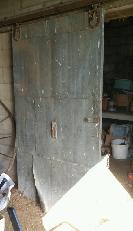 000 Awesome Antique Metal Sliding Rolling Barn Door Rail 100 Years Old Reclaimed