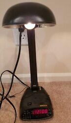 Vintage Windsor Johnlite Digital Clock Radio Table Lamp All-In-One