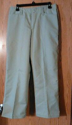 Red Kap women's tan flat front work pants,  nwot size 10