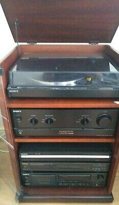 Vintage Sony Hi-Fi + Turntable, Cassette, CD/DVD Recorder, Tuner, B&O Speakers
