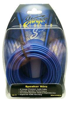 50 Feet Stinger HPM Series 16 Gauge AWG Matte Blue Copper Speaker Wire (Stinger Hpm Series)