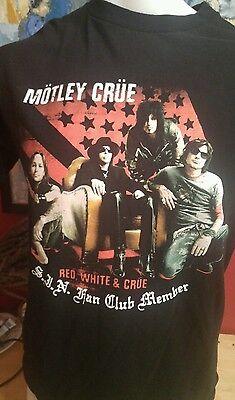 Mötley Crue Fan Club T Shirt Size Medium M