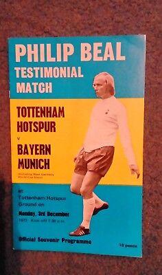 Philip Beal Testimonial Match Tottenham v Bayern Munich  Football Programme