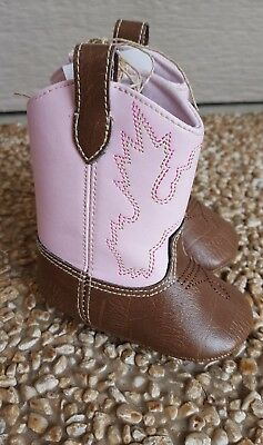Pink Cowgirl Boots For Toddlers (NEW PINK MUD PIE TODDLER SIZE 0-6 MONTHS COWGIRL BOOTS (GREAT FOR)