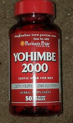 Puritans Pride Yohimbe Male Sexual Health 2000 Mg   50 Capsules