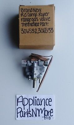 R.O. COMPANY RANGE GAS VALVE THERMOSTAT PN: 306533 8129F FREE SHIPPING NEW NOS
