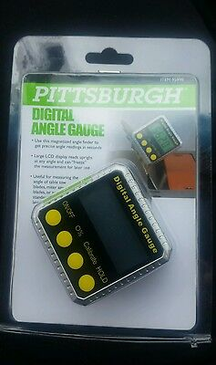 Pittsburgh Digital Angle Finder Gauge with LCD display   Magnetized 95998 New