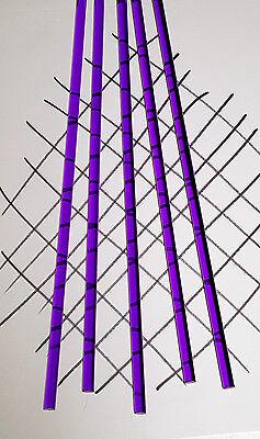 5 Pc 14 Diameter 18 Inch Long Clear Purple Acrylic Plexiglass Translucent Rod