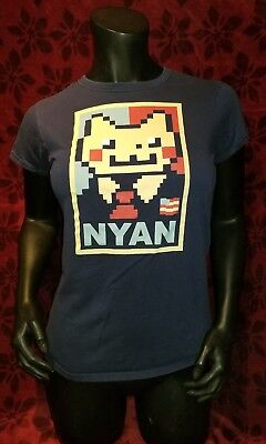 0e945944 MEDIUM Nyan Cat Election Poster T-shirt: Hope Internet Meme Funny USA Obama