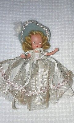 Vintage Nancy Ann Storybook Doll ~ #180 Monday's Child with, Wrist Tag