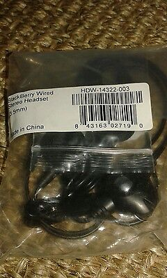 blackberry wired stereo headset 3. 5mm  Blackberry Wired Headset
