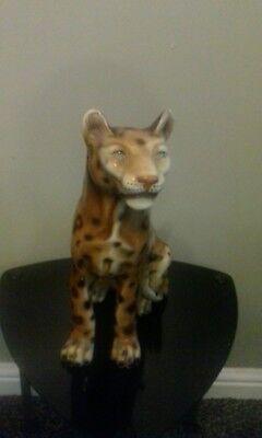 antique pottery leopard
