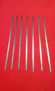 Spring steel strip Spring band steel 6.00mm x .60mm X 304mm CS95  carbon steel.