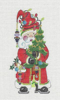NEW Strictly Christmas Santa & Tree & Decoratons handpainted Needlepoint Canvas ()