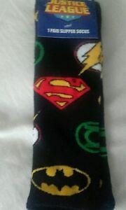 Mens DC Comics Slipper Socks 6-11 Batman Superman Flash Cotton Rich Ideal Gift