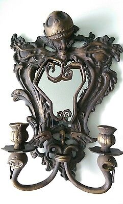 Nightmare Before Christmas Jack Bronze Wall Mirror Sconce Disney Limited 1/1500