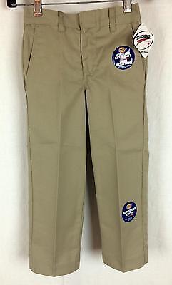 Dickies Boys Pants Flat Front Classic Fit Size 4 - 7 School Uniform 56362