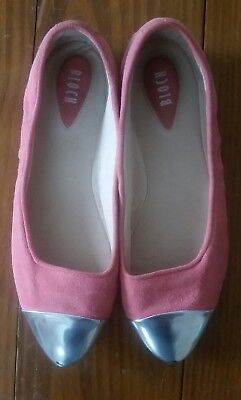 Bloch Flat (Bloch flats, women pink with silver pointy shoes, 37, vero cuoio)