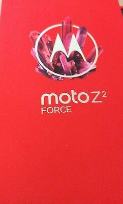 New SEALED Motorola Moto Z2 Force Black 64GB Sprint Boost factory wrty Nov2018