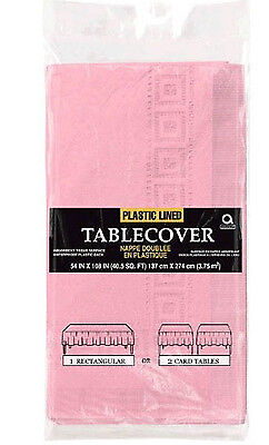 Pale Baby Pink Paper Tablecover disposable Tablecloth pale pink Theme Tableware](Pink Paper Tablecloths)