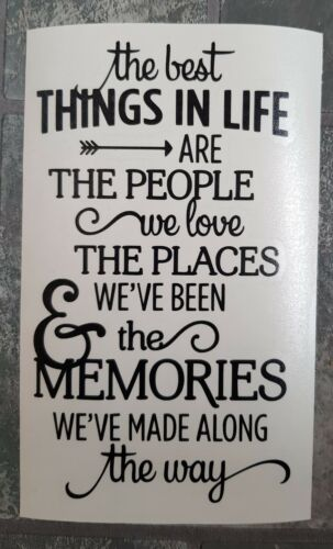 Home Decoration - The best things in life Vinyl Decal Wine Bottle Sticker.