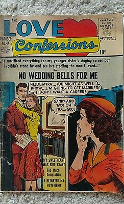 LOVE CONFESSIONS #44 VG- 3.5 QUALITY 10/1955