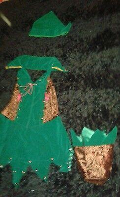 Robin Hood Hot Elf Forest Girl Sexy Leg Ave Halloween Costume Dress up Women'M/L